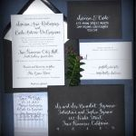 Classic calligraphy invitation by Angelique ink