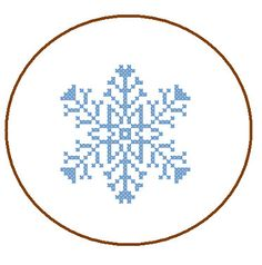 Instant Download Cross Stitch Pattern 6 point snowflake 1 Christmas Ornament Winter Holiday DIY Home Decor tree decoration cards great gift