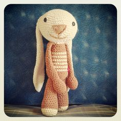 conejo con orejas largas bunny with long ears amigurumis