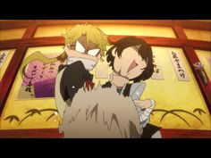 Episode one of Bungou Stray Dogs  Its so funny XD