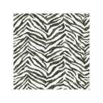 Mia Black Faux Zebra Stripes Wallpaper Sample