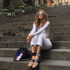 Miu Miu Ballerinas Trend 2016 Putting Outfits Together, 2016 Trends, City Chic, Her Style, Casual Chic, Ideias Fashion, Celebrity Style, Summer Outfits, Street Style