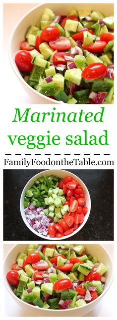 Marinated veggie salad - So bright and fresh! Always a hit!   Family Food on the Table