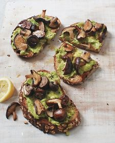 Skip the usual sauteing and try roasting mushrooms for these clever toasts. It intensifies the fungi's earthy flavor and seals in the juices, rendering them a perfect complement to creamy avocado.
