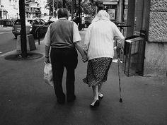 Elder couples in love