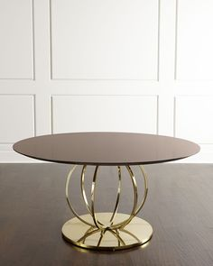 Juno Dining Table, Brown/Brass