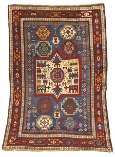 A Kazak rug, Southwest Caucasus approximately 7ft. 2in. by 5ft. 4in. (2.18 by 1.62m.) circa 1890