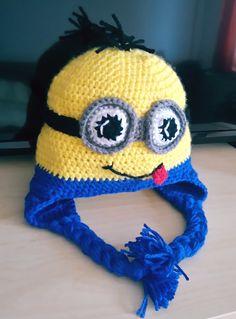 Minion baby hat crochet
