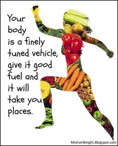 Good food choices = strong & healthy body