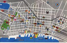 Seattle tour map, 1965