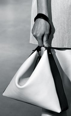 Black & white leather handbag, chic fashion details // 3.1 Phillip Lim Spring 2015
