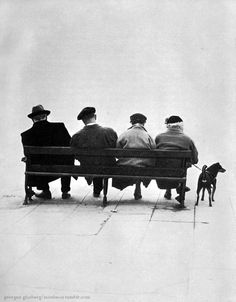 Georges Glasberg - On a bench - Paris 1960s
