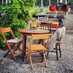 another cozy café on Gotland Cozy Cafe, Outdoor Tables, Outdoor Decor, Sweden, Outdoor Furniture Sets, Conference, Outdoors, Home Decor, Spaces