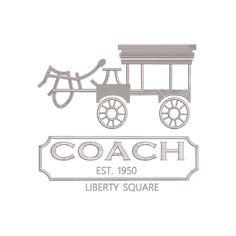Coach Logo Disney Cinderella Coach Carriage inspired Machine Embroidery Design