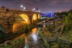 Stone Arch Bridge at Mill Ruins Park Minneapolis by Jim Guy