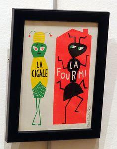 LA CIGALE/LA FOURMI by Élisa Géhin