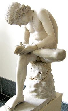 Boy with a thorn in his foot. Roman Imperial period marble copy of a Greek statue from 5-3 century BCE. Berlin, Pergamon Museum. Credits: Ann Raia, 2005