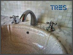 Baterie lavoar cu trei orificii Clasic-Tres Sink, Retro, Home Decor, Faucet, Sink Tops, Vessel Sink, Decoration Home, Room Decor, Vanity Basin
