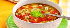 Soupe-repas au poulet à l'italienne - Complètement poireau Cheeseburger Chowder, Thai Red Curry, Chili, Brunch, Ethnic Recipes, Quiches, Food, Unique, Cream Soups