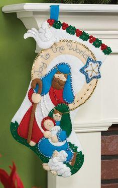 Joy to the World Bucilla Christmas Stocking Kit
