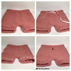 Cubre pañal punto bobo 6. Crochet For Kids, Easy Crochet, Crochet Baby, Knit Crochet, Crochet Summer, Point Mousse, Knitted Baby Clothes, Crochet Gloves, Diaper Covers