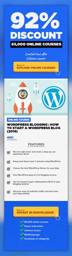 WordPress Blogging : How To Start A WordPress Blog (2018) Web Development, Development  WordPress Blogging : The Only Guide You Need to Setup Your WordPress Blog Website Do you want to start a WordPress blog the right way? I know that starting a blog can be a terrifying thought especially when you are not geeky. Guess what - you are not alone. Having helped over thousands of users to start a blog,...