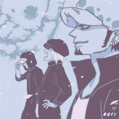 Heart pirates Trafalgar D. Water Law, Shachi, and Penguin One piece
