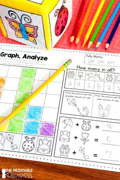 Spring activities for Kindergarten. Includes 36 math and literacy activities and partner games. All activities are very little prep or NO prep! Perfect for spring-time in Kindergarten.