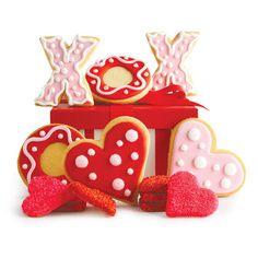 Galletas Corazón y XoXo decoradas con glasé