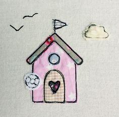 Stickmuster - Strandhaus Doodle Stickdatei - ein Designerstück von feinliebshop bei DaWanda