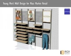 Wall mounted retail clothing display by georgy