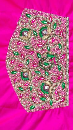 Peacock Embroidery Designs, Hand Embroidery Design Patterns, Hand Work Embroidery, Aari Embroidery, Blouse Designs Catalogue, Best Blouse Designs, Churidhar Neck Designs, Hand Designs, Mirror Work Blouse Design