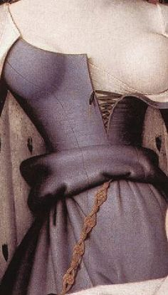 References for medieval art depicting gowns with what appear to be princess seams. fouquet_madonna1450dtl