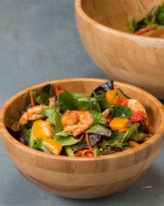 This Roasted Shrimp And Veggie Salad Is Perfect For A Filling Lunch Servings: 2. Could do with rice too!