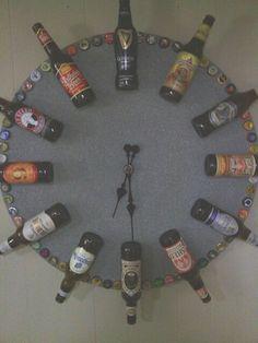 Beer bottle clock.