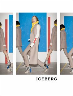 Natasa Vojnovic & Felix Gesnouin for Iceberg F.W Campaign by Walter Pfeiffer 1 Ellesse, Fall Winter 2014, Color Stripes, Fashion Photography, Shoe Photography, Editorial Fashion, Supermodels, Duster Coat, Women Wear