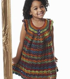 Super cute! Love this little girl's dress! #Crochet one for the fall! @Bernadette Folwarczny Folwarczny Tydlacka Yarns #diy