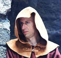 Medieval-Larp-Pagan-Reenactment-LEATHER COIF SKULL CAP in Black//Rich Brown//Tan