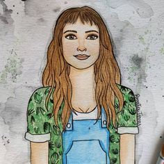 """""""Eu dava tudo pra visitar teu coração"""" Oh Ana - Mallu Magalhães ❤️🌿  ⚪  ⚪  ⚪  #watercolour #watercolor #aquarelle #aquarela #ilustración #ilustração #illustration #draw #sketch #paint #desenho #dibujo #desenhando #painting #esboco #rascunho #girl #grlpwr #aquarelinhas #retrato #portrait #vem #malluvem #mallumagalhaes #cantora #single #bossa #poesia #mpb #sambinha"""