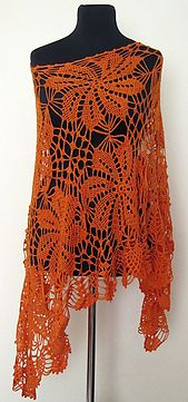 Ravelry: Sunny Tangerines -ponczo pattern by Małgorzata Rak free