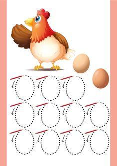 Schrijfpatroon eieren, lente, kleuteridee.nl