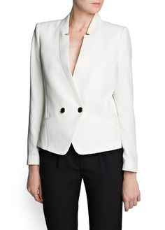 CREPÉ DOUBLE-BREASTED BLAZER £39