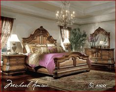 3146AICO Mansion Bedroom Set Tuscano in Biscotti AI-34-26