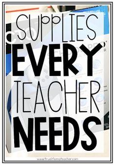 Supplies Every New Teacher Actually Needs | True Life I'm a Teacher