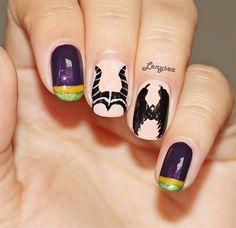 Maleficent by Lenysea - Nail Art Gallery nailartgallery.nailsmag.com by Nails Magazine www.nailsmag.com #nailart