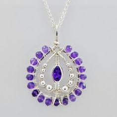 Amethyst Pendant Silver handmade fair trade USA Bazaars R Us