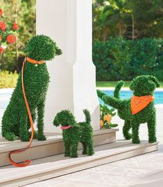 You don't need a country estate or master gardener to enjoy the everlasting charm of our Faux Boxwood Garden Dogs. They don't require grooming or water, and never bark! A simple and playful way to fetch smile after smile in the garden, at an entryway, or Boxwood Landscaping, Boxwood Garden, Potager Garden, Landscaping Tips, Landscaping Software, Balcony Garden, Landscape Borders, Landscape Design, Modern Garden Design