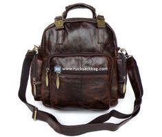$139.99 Leather Laptop Backpack Rucksack Travel Bag