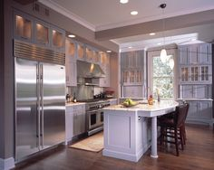 huge fan of countertop appliance garages :: Moon Bros. design/build in Atlanta. Dining Area Design, Staining Cabinets, Wood Cabinets, Taupe Walls, Palette, Beautiful Kitchens, Kitchen Interior, Home Kitchens, Kitchen Remodel