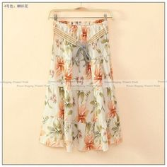 New Fashion Women's BOHO Style Floral Print Skirt 2017 Spring Casual High Waist Slim Linen Midi Skirts With Belt 20 Style PS0536
